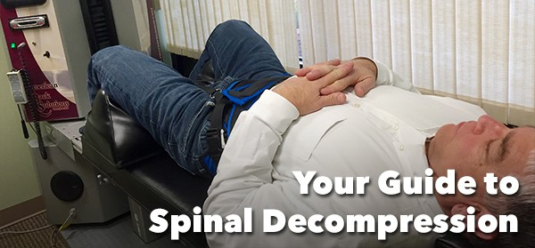 Man on Spinal Decompression Table