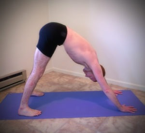 Downward Dog Pose for Text Neck